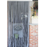 "Vliegengordijn PVC ""String""  Wit - Grijs 100 x 220 cm"