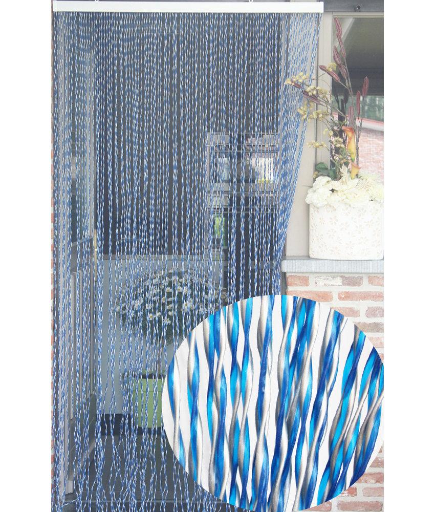 """Vliegengordijn PVC """"String""""  Blauw - Grijs 100 x 220 cm"""