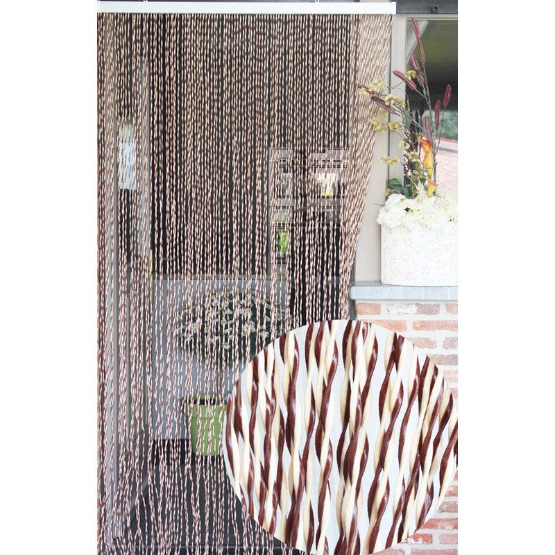 """Vliegengordijn PVC """"String""""  Beige - Bruin 100 x 220 cm"""