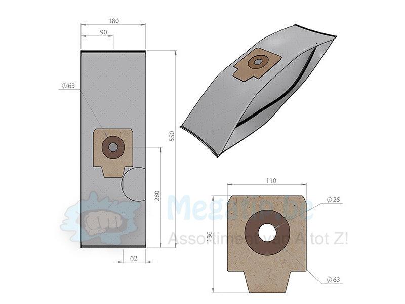 Nilfisk Cubic / GD932/ GD934 intense filtration  Stofzuigerzakken