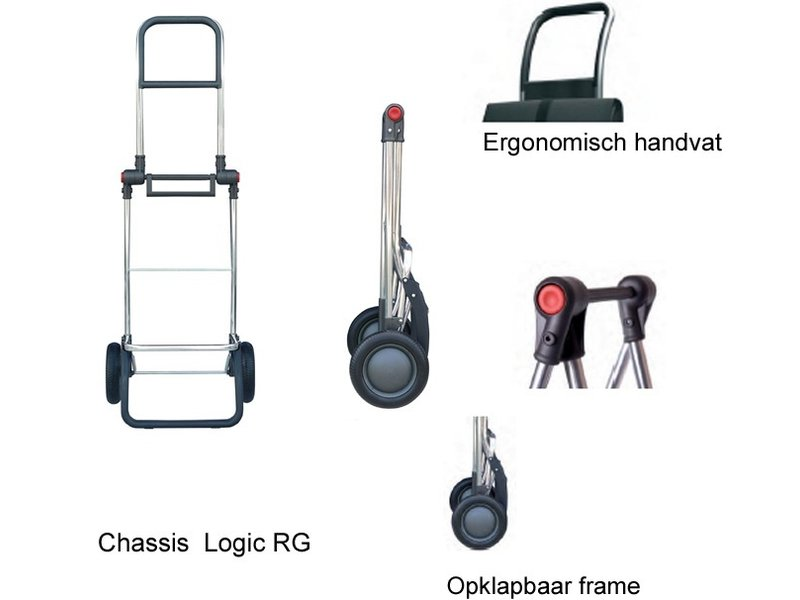 "Rolser Boodschappentrolley  Zwart   ""I-MAX MF LOGIC RG"""