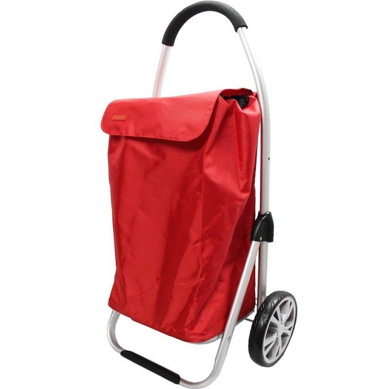 Boodschappentrolley Red 48 L. Inklapbaar Aluminium
