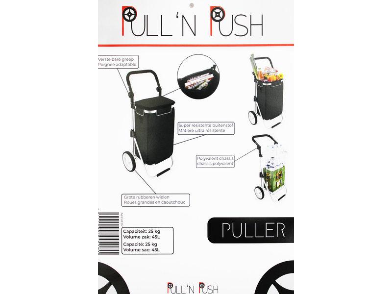 "Boodschappentrolley Grijs  ""Pull'N & Push - Puller"""