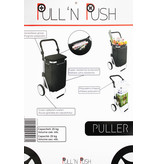 "Boodschappentrolley Zwart  ""Pull'N & Push - Puller"""