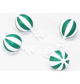 Tafelkleedgewichten Balletjes  Groen/Wit -  4 stuks