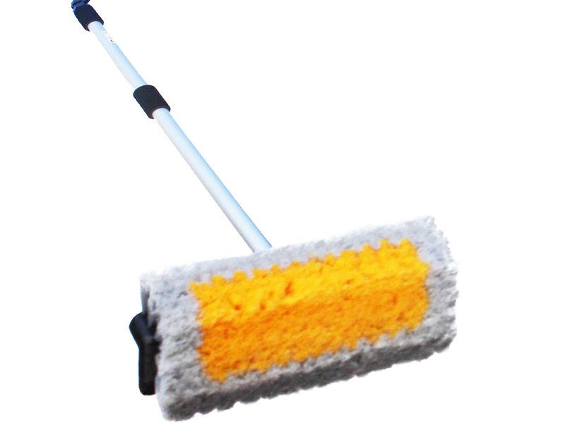 Professionele schoonmaakborstel  met Hydrosteel  2 meter