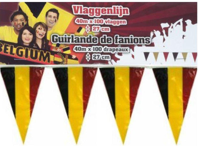 België Vlaggenlijn 40 Meter - 100 vlaggen