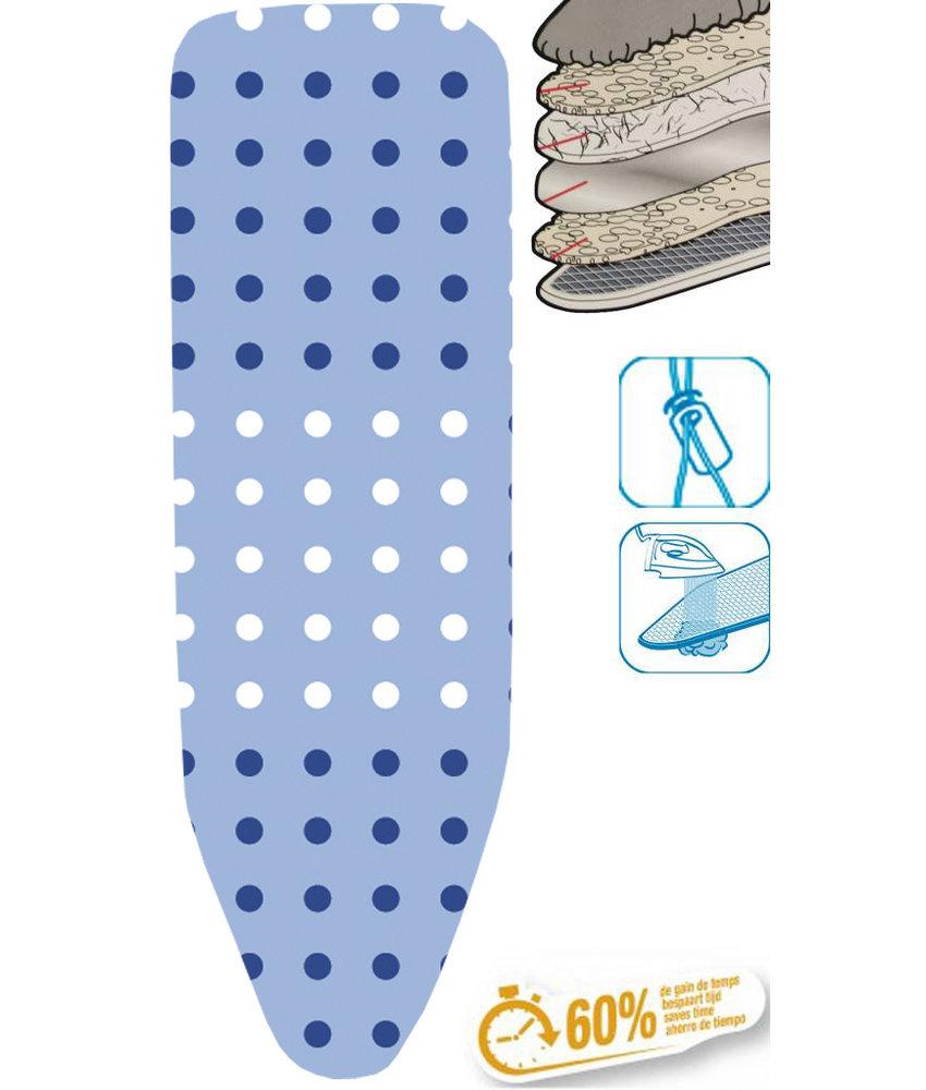 """Strijkplankhoes 5 lagen maat C   """"Dots blue"""""""