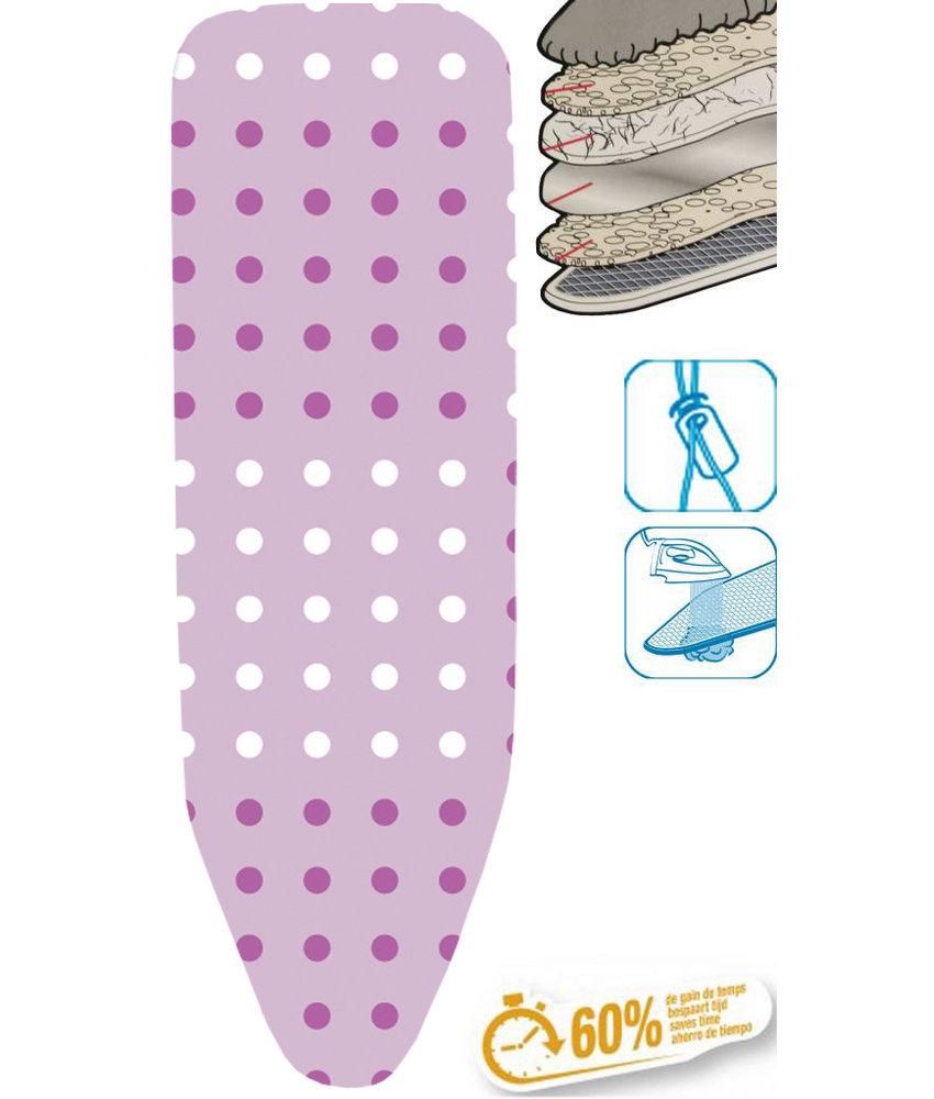 """Strijkplankhoes 5 lagen maat C    """"Dots pink"""""""