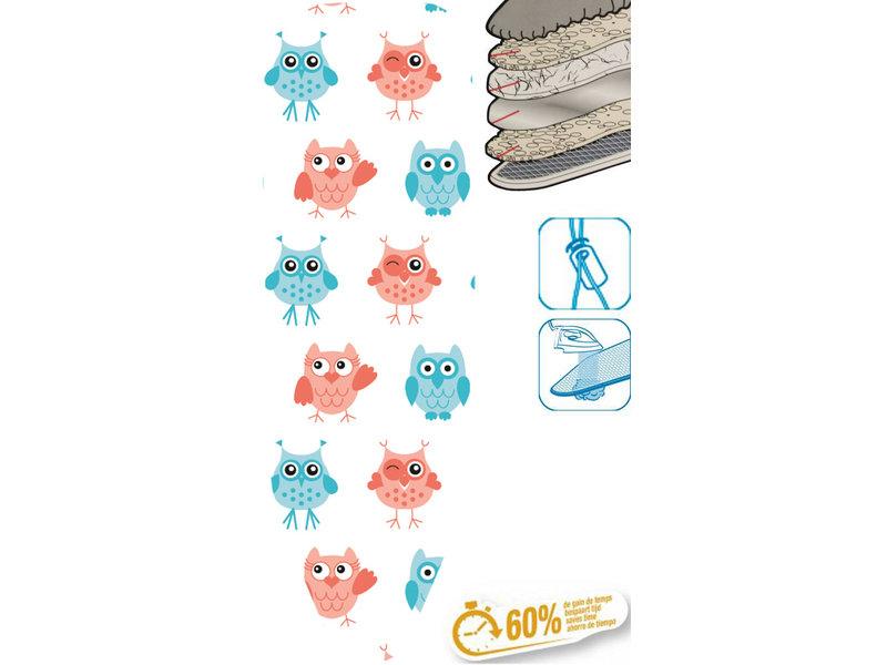 """Strijkplankhoes 5 lagen maat C    """"Sweet Owls"""""""