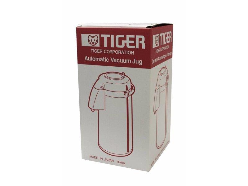 Tiger Pompthermos 2,5 Liter Beige met glazen binnenfles