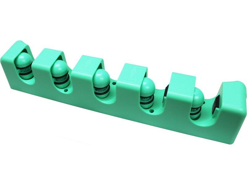 Ophangsysteem voor 5 stelen - groen