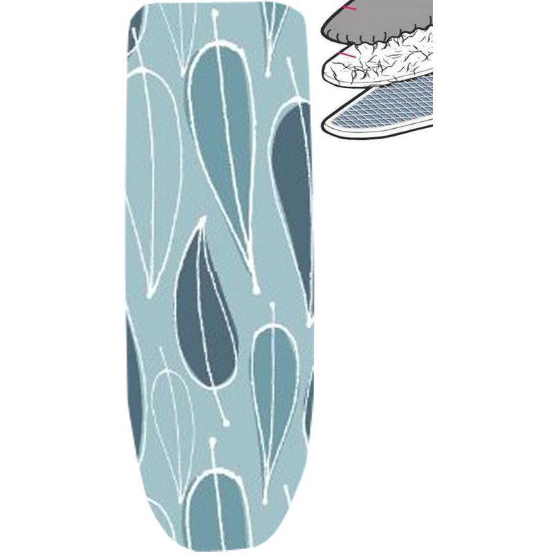 Strijkplankhoes 2 laags met elastiek A -  blue / leave