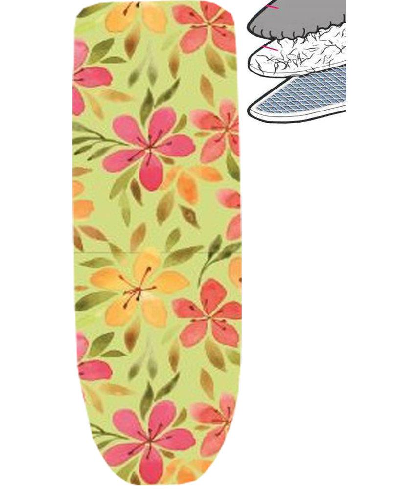 Strijkplankhoes 2 laags met elastiek A -  Flowers