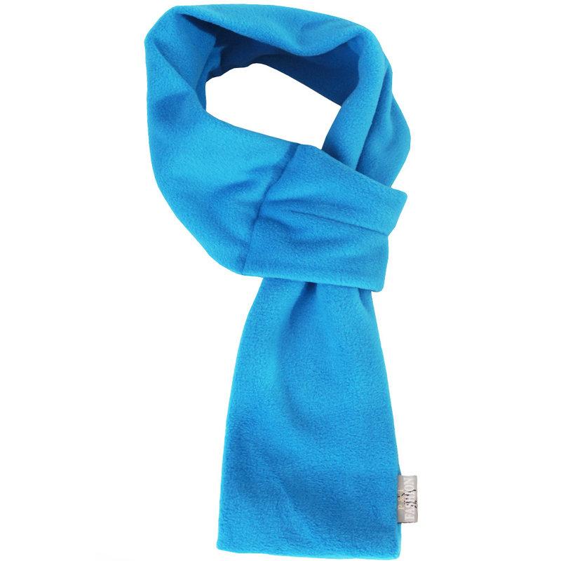 Doorsteek Sjaal fleece Zeeblauw