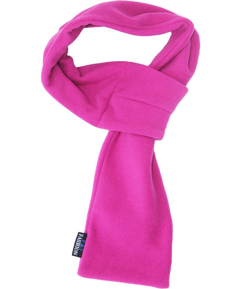 Doorsteek Sjaal fleece   Violet