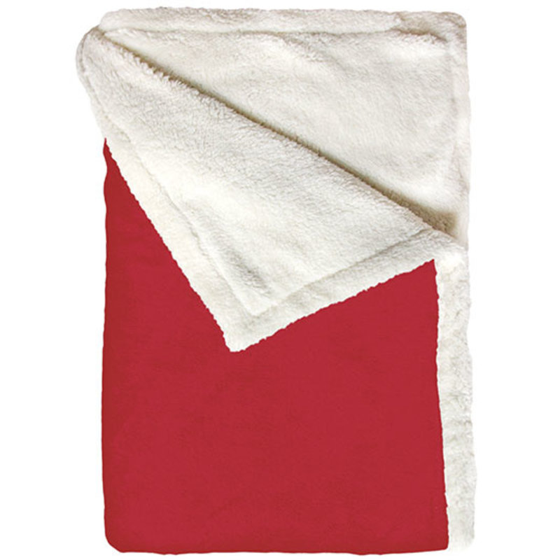 Bear Dream Sherpa Fleece deken  130 x 170 cm  -  Rood