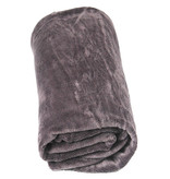 Fleece deken Coral 130x170 cm   Dark Taupe