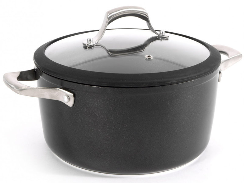"Haute Cuisine Kookpot + Deksel  24 cm   ""Vulcano-Rock"""