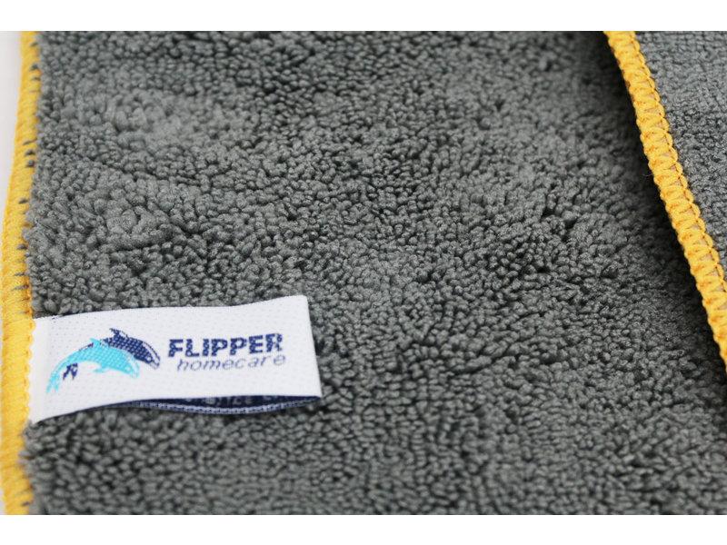 Flipper Microvezel  Autodroogdoek 60 x 90 cm  Grijs - Goud