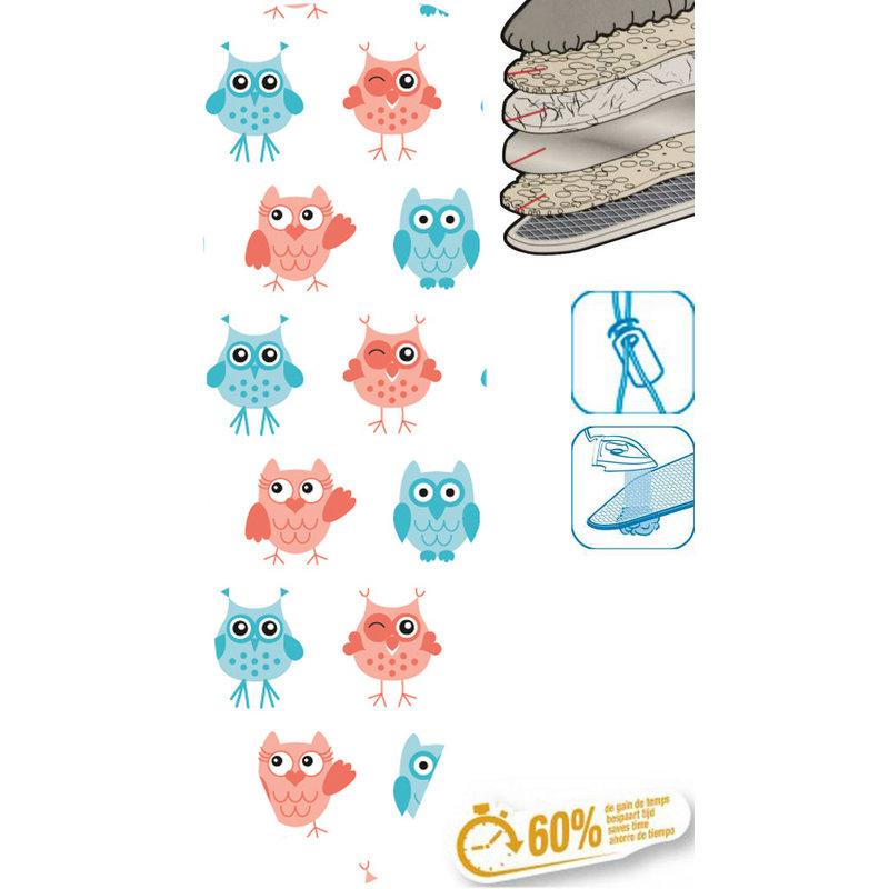 "Strijkplankhoes 5 lagen maat  A  ""Sweet Owls"""