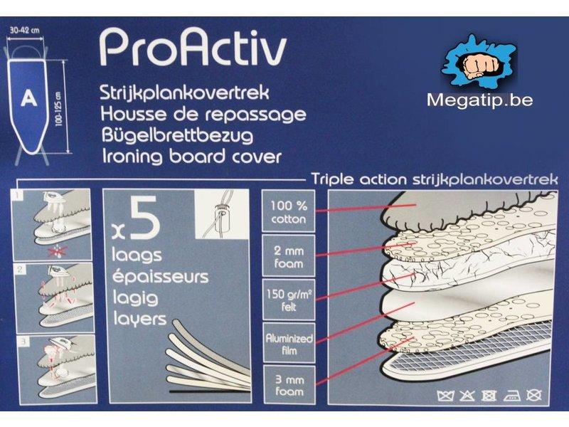 "Strijkplankhoes 5 lagen maat  A  ""Blue - pink dot"""