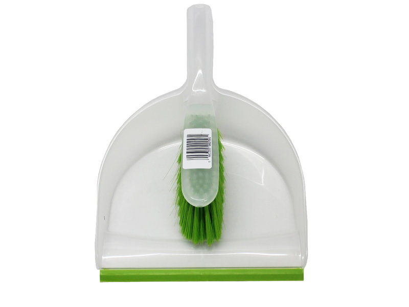 Vuilblik transparant  met handvleugel Groen