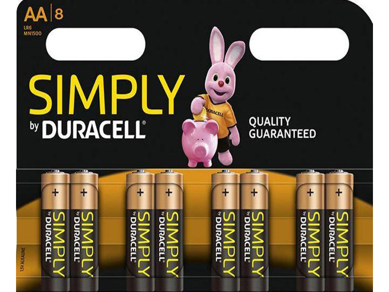 DURACELL AA batterijen  Duralock  1,5V   ( 8 stuks )