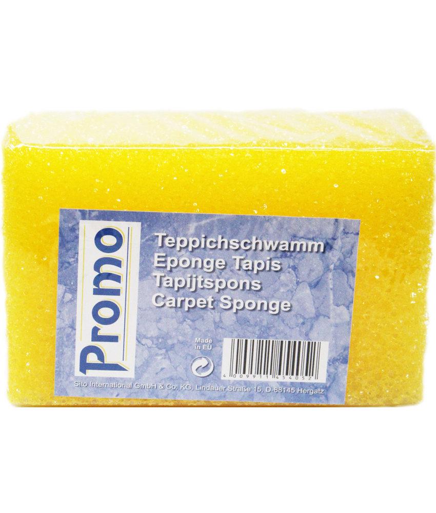 Tapijtspons geel 15 x 10 x 7 cm.