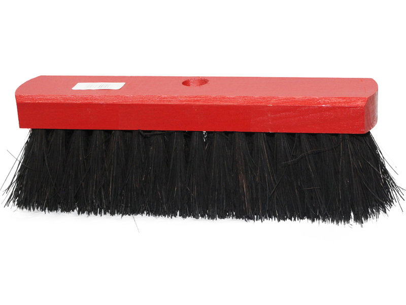 Straatveger  Colombo 30 cm - rood gelakt hout