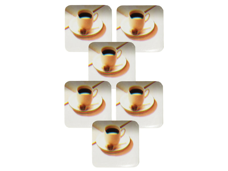 Onderzetter - set van 6 stuks - Koffietas