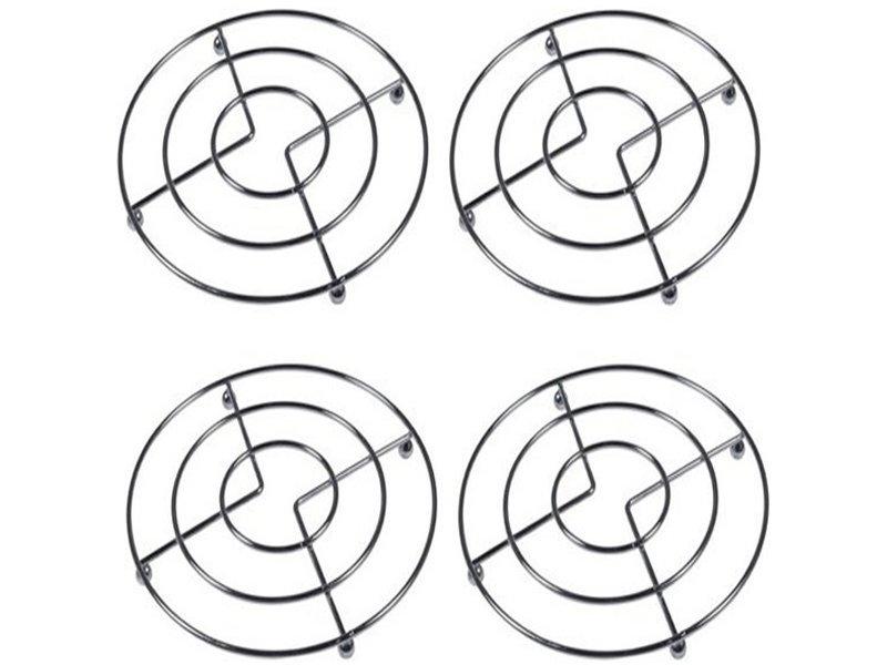 Pannenonderzetters metaal rond  Ø 20 cm.  - set 4 stuks