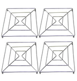 Pannenonderzetters metaal 18 x 18 cm.  -  set 4 stuks