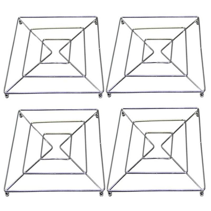 Pannenonderzetters metaal 18 x 18 cm.  ( set 4 stuks )