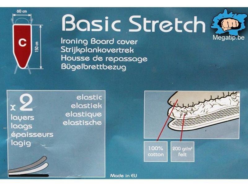 Strijkplankhoes 2 laags met elastiek C - Blue Golven