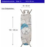 Strijkplankhoes 2 laags met elastiek  A - Beige  Flower