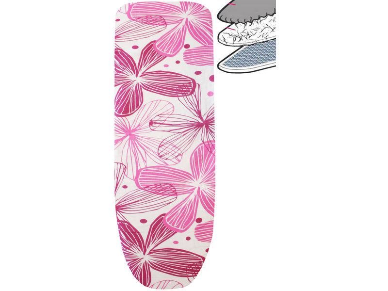 Strijkplankhoes 2 laags met elastiek A - Pink Flower