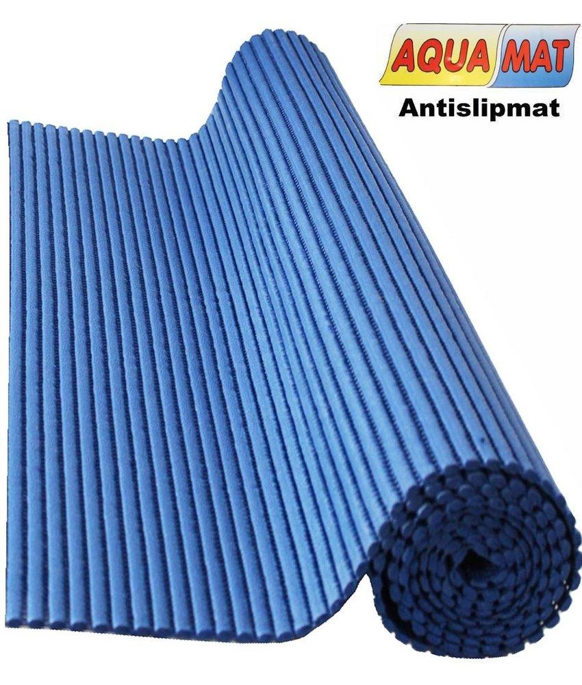 Aquamat antislipmat effen blauw 0,65 x 0,75 meter