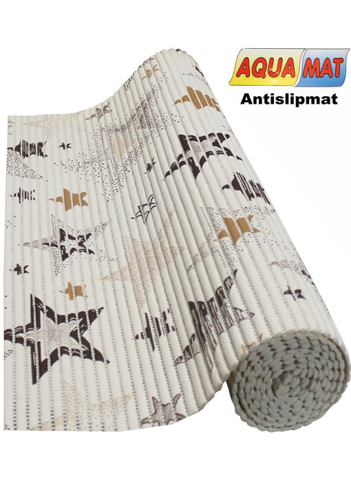 Aquamat antislipmat Beige / Ster  0,65 x 1,15 meter