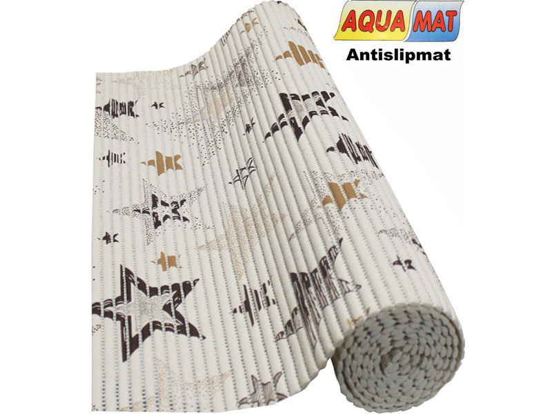 Aquamat antislipmat Beige / Ster  0,65 x 2 meter