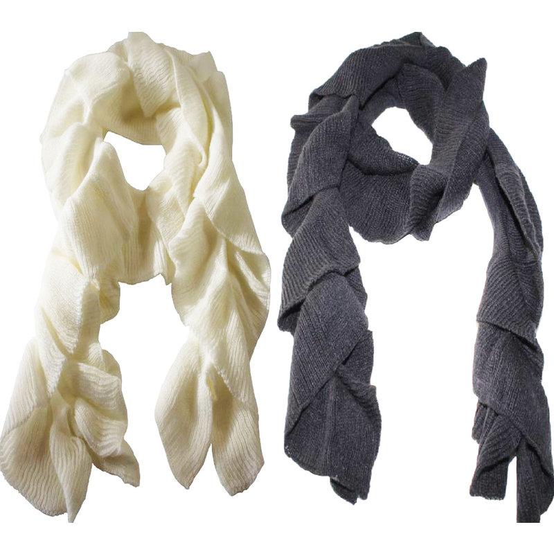 Sjaal golvend gebreid
