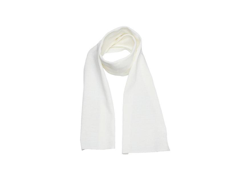 Gebreide Sjaal 150 x 22 cm. -  Ecru