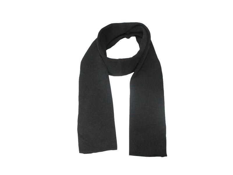 Gebreide Sjaal 150 x 22 cm. -  Zwart
