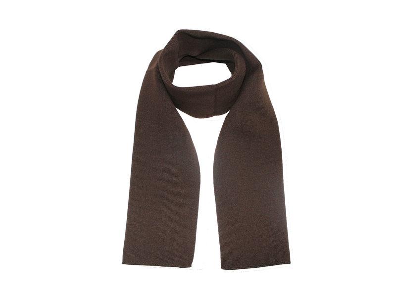 Gebreide Sjaal 150 x 22 cm. -  Bruin