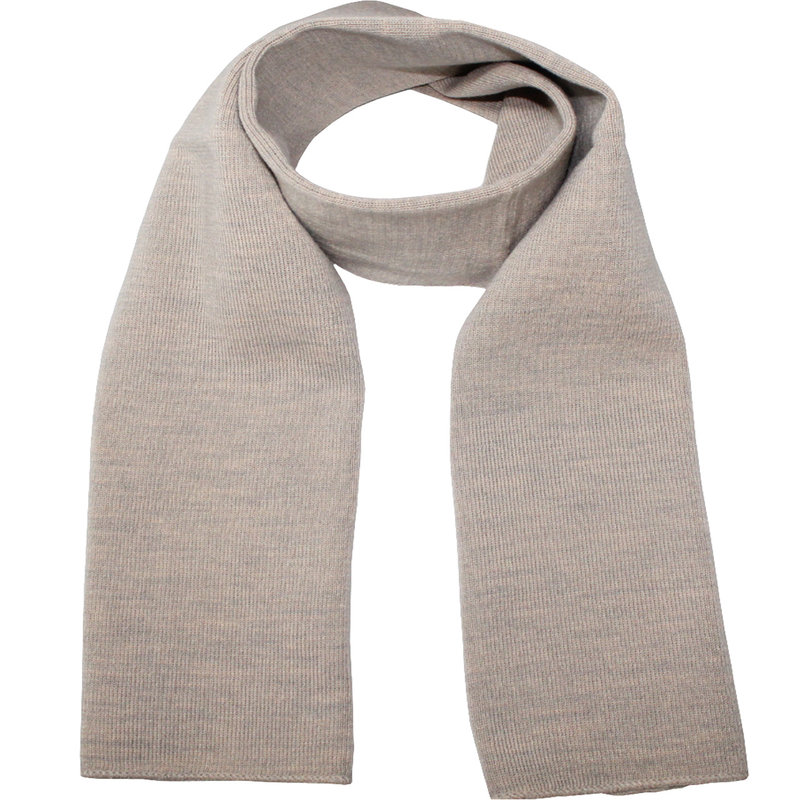 Gebreide Sjaal 150 x 22 cm. -  licht Beige