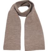 Gebreide Sjaal 150 x 22 cm. -  midden  Beige