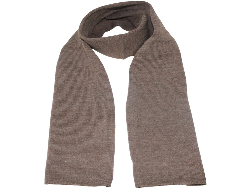 Gebreide Sjaal 150 x 22 cm. -  donker  Beige