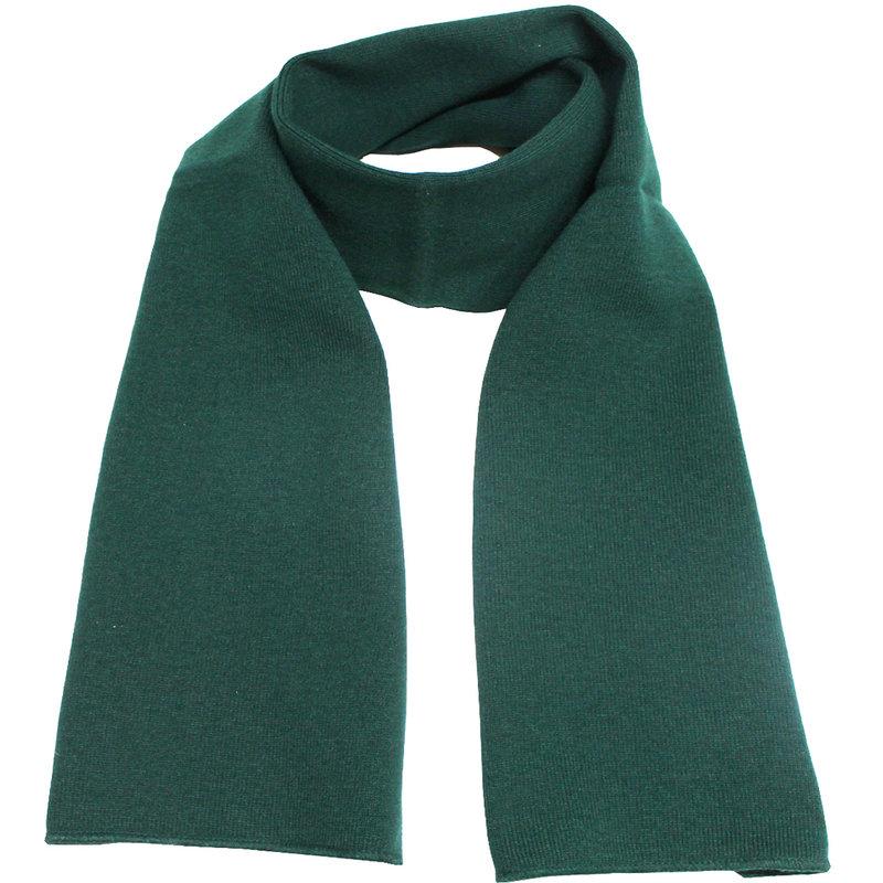 Gebreide Sjaal 150 x 22 cm. -  Groen