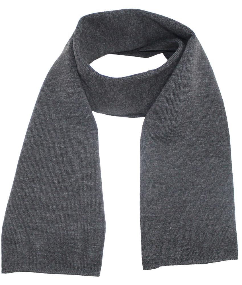 Gebreide Sjaal 150 x 22 cm. - Antraciet Grijs