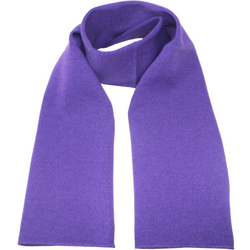Gebreide Sjaal 150 x 22 cm. -  Paars